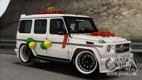 Mercedes Benz G65 Hamann Tuning Wedding Version für GTA San Andreas Innen