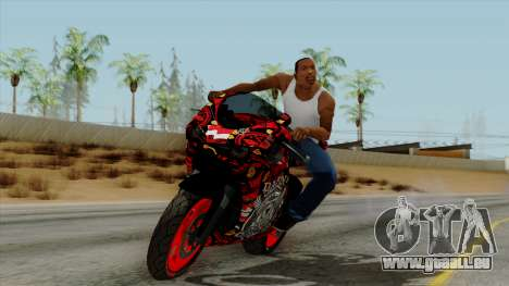 Bati Batik Motorcycle v2 pour GTA San Andreas sur la vue arrière gauche