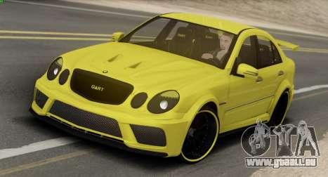 Mercedes-Benz E63 Qart Tuning für GTA San Andreas zurück linke Ansicht