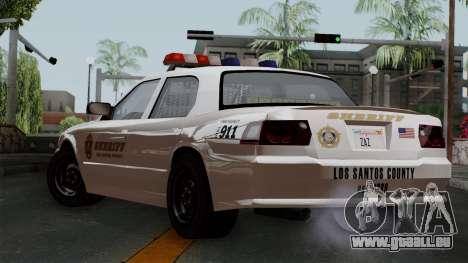 GTA 5 Sheriff Car pour GTA San Andreas laissé vue