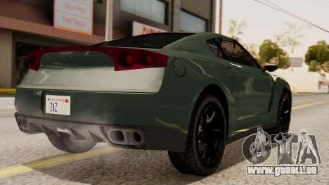 GTA 5 Annis Elegy RH8 SA Style pour GTA San Andreas laissé vue