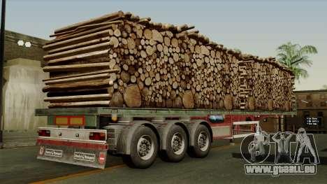 Trailer Cargos ETS2 New v2 pour GTA San Andreas laissé vue
