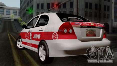 Chevrolet Aveo Taxi Poza Rica pour GTA San Andreas laissé vue