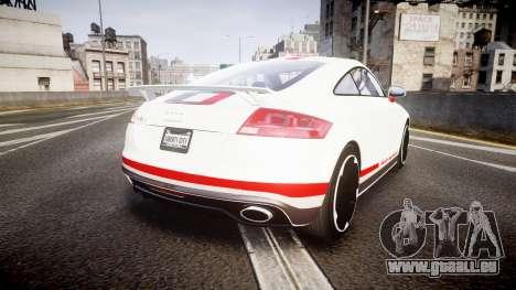 Audi TT RS 2010 Quattro pour GTA 4 Vue arrière de la gauche