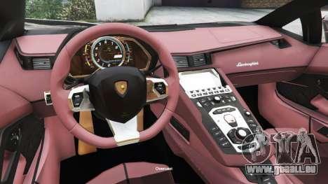 GTA 5 Lamborghini Aventador LP700-4 v0.2 droite vue latérale