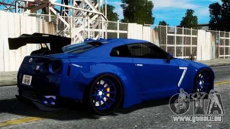 Nissan GT-R R35 Liberty Walk pour GTA 4 est une gauche