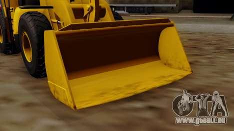 GTA 5 HVY Dozer pour GTA San Andreas vue de droite