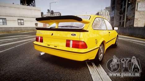 Ford Sierra RS500 Cosworth v2.0 pour GTA 4 Vue arrière de la gauche