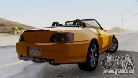 Honda S2000 Fast and Furious pour GTA San Andreas laissé vue