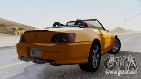 Honda S2000 Fast and Furious für GTA San Andreas linke Ansicht