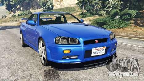 Nissan Skyline R34 GT-R v0.1 pour GTA 5
