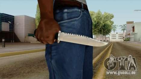 Original HD Knife pour GTA San Andreas troisième écran