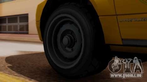 Landstalker Taxi SR 4 Style pour GTA San Andreas sur la vue arrière gauche