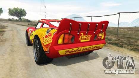 GTA 5 Lightning McQueen [Beta] hinten links Seitenansicht