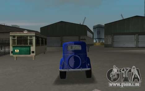 GAZ 11-73 Royal Blau für GTA Vice City rechten Ansicht