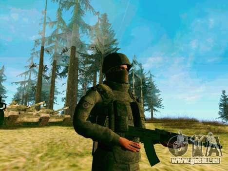 Pak-Kämpfer von speziellen Truppen von GRU für GTA San Andreas dritten Screenshot