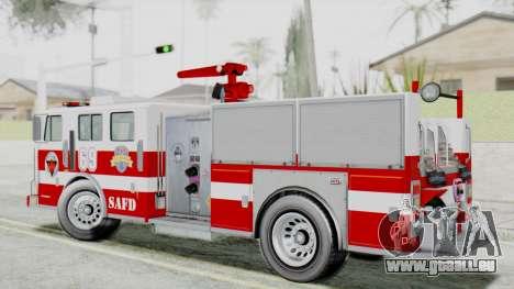 MTL SAFD Firetruck Flat Shadow pour GTA San Andreas laissé vue