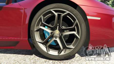 GTA 5 Lamborghini Aventador LP700-4 v0.2 arrière droit vue de côté