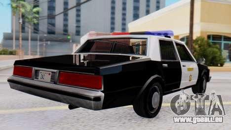 Chevrolet Caprice 1980 SA Style LVPD pour GTA San Andreas laissé vue