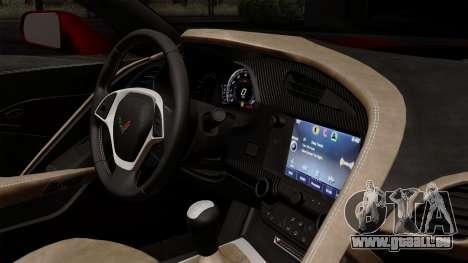 Chevrolet Corvette C7 Stingray 1.0.1 pour GTA San Andreas vue arrière