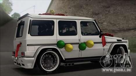 Mercedes Benz G65 Hamann Tuning Wedding Version für GTA San Andreas rechten Ansicht