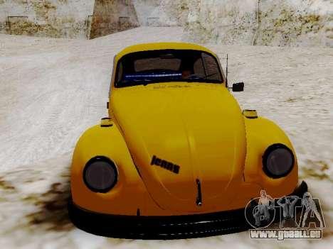 Volkswagen Beetle 1975 Jeans Édition Personnalis pour GTA San Andreas vue intérieure