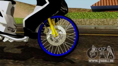 Mio Drag pour GTA San Andreas sur la vue arrière gauche