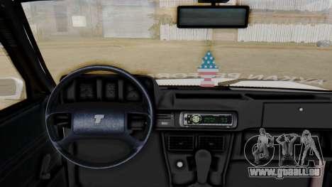 Tofas Turbo SLX 1.6 pour GTA San Andreas sur la vue arrière gauche