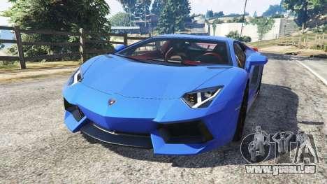 Lamborghini Aventador LP700-4 v1.2 pour GTA 5