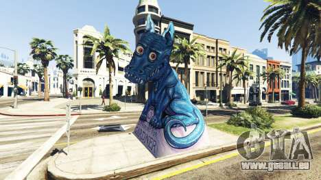 Statue Dragon Ilusion pour GTA 5