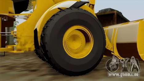 GTA 5 HVY Dozer pour GTA San Andreas sur la vue arrière gauche