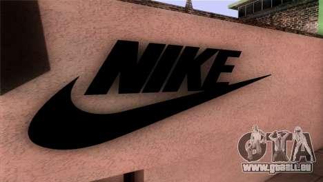 New Shop Nike pour GTA San Andreas troisième écran