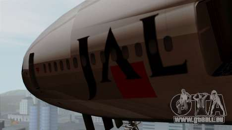 DC-10-30 Japan Airlines für GTA San Andreas Rückansicht