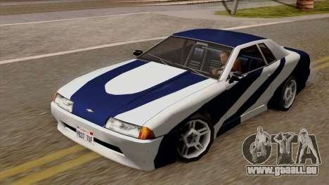 Vinyle pour Elegy - NFSMW pour GTA San Andreas sur la vue arrière gauche