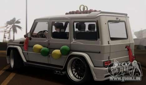 Mercedes Benz G65 Hamann Tuning Wedding Version für GTA San Andreas Rückansicht