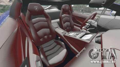 GTA 5 Lamborghini Aventador LP700-4 v1.2 avant droite vue de côté