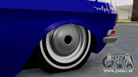 GAZ 24 Volga für GTA San Andreas zurück linke Ansicht