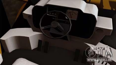 GTA 5 HVY Dozer pour GTA San Andreas vue arrière