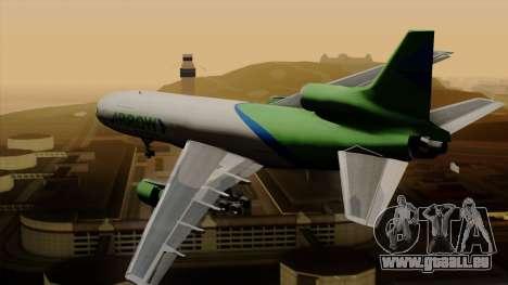 Lockheed L-1011 TriStar Arrow Air Cargo für GTA San Andreas linke Ansicht