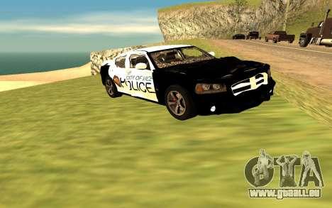 Dodge Charger Super Bee 2008 Vice City Police pour GTA San Andreas vue de droite