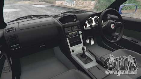 GTA 5 Nissan Skyline R34 GT-R v0.1 arrière droit vue de côté