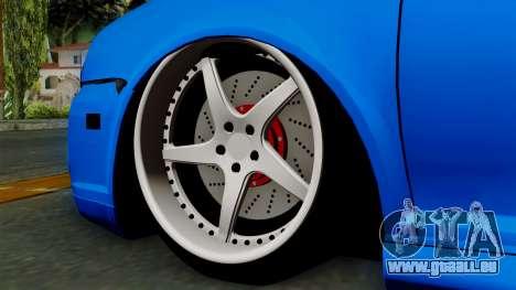 Volkswagen Golf Mk4 Stance pour GTA San Andreas sur la vue arrière gauche