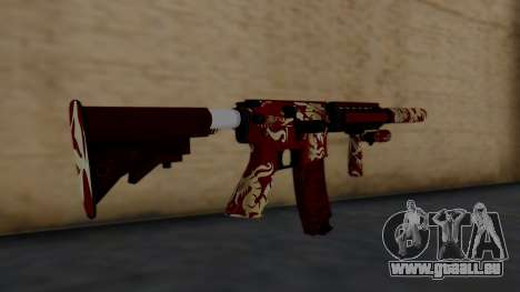 M4A1 Royal Dragon pour GTA San Andreas deuxième écran