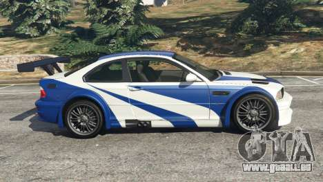 GTA 5 BMW M3 GTR E46 Most Wanted v1.3 linke Seitenansicht