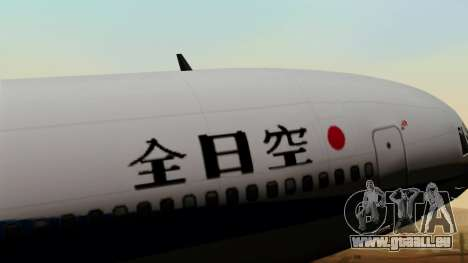 Lockheed L-1011 TriStar All Nippon Airways pour GTA San Andreas vue arrière