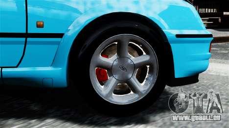 Ford Sierra RS Cosworth v2 pour GTA 4 Vue arrière de la gauche