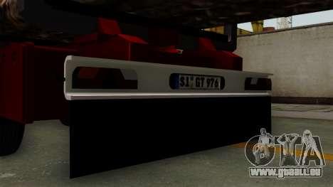Trailer Fliegl v2 pour GTA San Andreas vue de droite