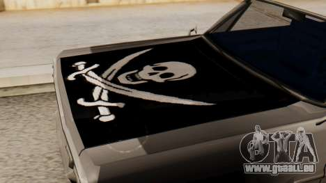 Vinyle pour les Savanes - Pirate manteau pour GTA San Andreas vue de droite