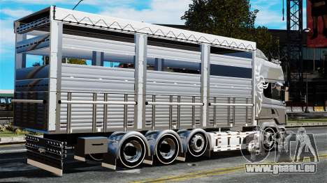 Scania R580 pour GTA 4 est une gauche