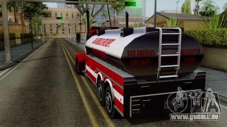 FDSA Helicopter Tender Truck pour GTA San Andreas laissé vue